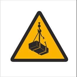 Obrazek dla kategorii Znak Ostrzeżenie przed wiszącymi przedmiotami (wiszącym ciężarem)(305)