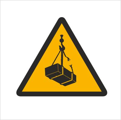 Znak Ostrzeżenie przed wiszącymi przedmiotami (wiszącym ciężarem)(305)