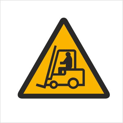 Znak Ostrzeżenie przed urządzeniami do transportu poziomego (306)