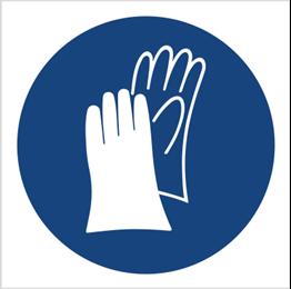 Obrazek dla kategorii Znak Nakaz stosowania ochrony rąk (407)