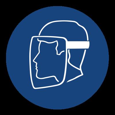 Znak Nakaz stosowania osłony twarzy (408)