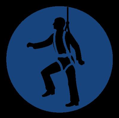 Znak Nakaz używania pasów bezpieczeństwa(410)