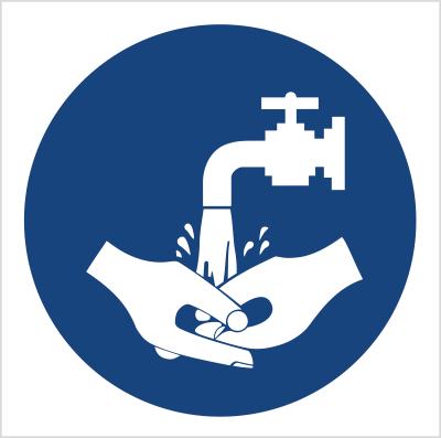Znak Nakaz mycia rąk (411)