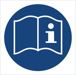 Obrazek dla kategorii Znak Przed przystąpieniem do pracy przeczytaj instrukcję (418)