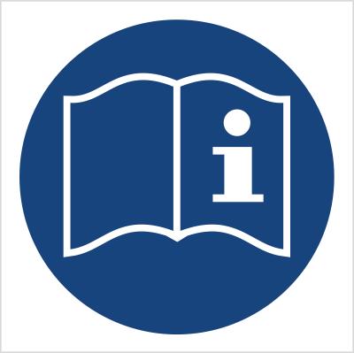 Znak Przed przystąpieniem do pracy przeczytaj instrukcję (418)