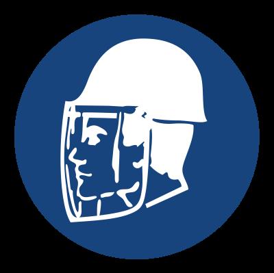 Znak Stosuj ochrone twarzy i głowy (425)