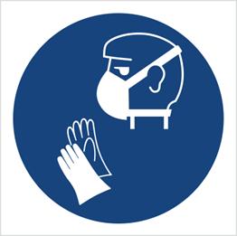 Obrazek dla kategorii Znak Stosuj maskę i rękawiczki (429)