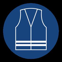 Obrazek dla kategorii Znak nakaz stosowania kamizelki odblaskowej (431)