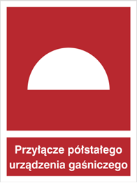 Obrazek dla kategorii Znak Przyłącze półstałego urządzenia gaśniczego (229)
