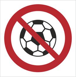 Obrazek dla kategorii Znak Zakaz gry w piłkę (bez opisu) (651)