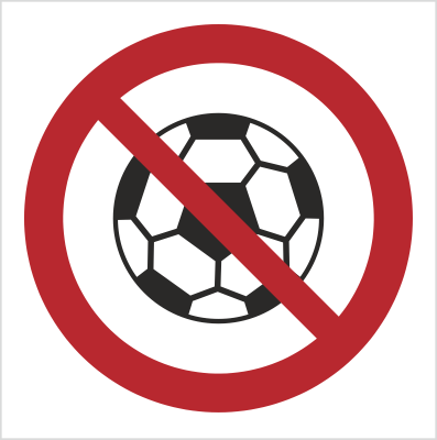 Znak Zakaz gry w piłkę (bez opisu) (651)
