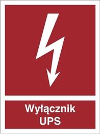 Obrazek dla kategorii Znak Wyłącznik UPS 219-05