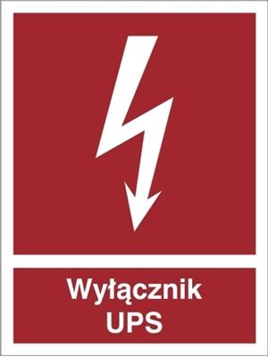 Znak Wyłącznik UPS 219-05
