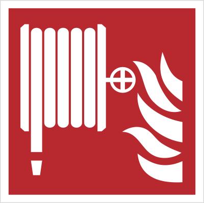 Znak hydrant wewnętrzny wg PN-EN ISO 7010 (F02)