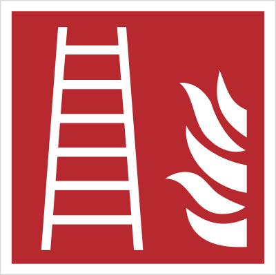 Znak Drabina pożarowa (F03)