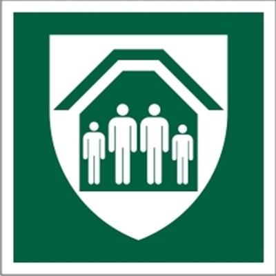 Znak Schron ewakuacyjny (E21)