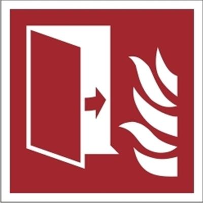 Znak drzwi przeciwpożarowe wg PN-EN ISO 7010 (F07)
