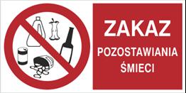 Obrazek dla kategorii Zakaz pozostawiania śmieci (857-07)