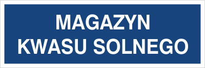 Magazyn kwasu solnego (801-127)