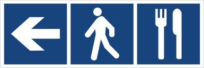 Restauracja (kierunek w lewo) (865-09)