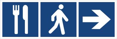 Restauracja (kierunek w prawo) (865-10)