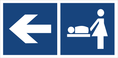 Przewijalnia dzieci (kierunek w lewo) (865-19)
