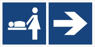 Przewijalnia dzieci (kierunek w prawo) (865-20)