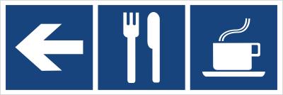 Restauracja, kawiarnia (kierunek w lewo) (865-29)