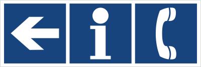 Informacja, telefon (kierunek w lewo) (865-33)