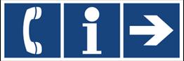 Obrazek dla kategorii Informacja, telefon (kierunek w prawo) (865-34)