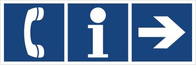 Informacja, telefon (kierunek w prawo) (865-34)