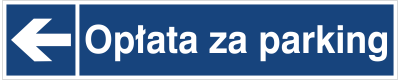 Opłata za parking (kierunek w lewo)(865-39)