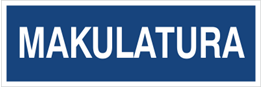 Obrazek dla kategorii Makulatura (801-95)