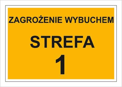 Znak Zagrożenie wybuchem strefa 1 (829)