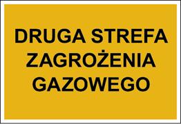 Obrazek dla kategorii Znak Druga strefa zagrożenia gazowego (827-03)
