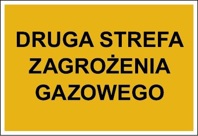 Znak Druga strefa zagrożenia gazowego (827-03)