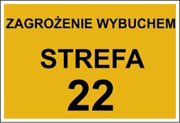 Obrazek dla kategorii Znak Zagrożenie wybuchem strefa 22 (828-01)