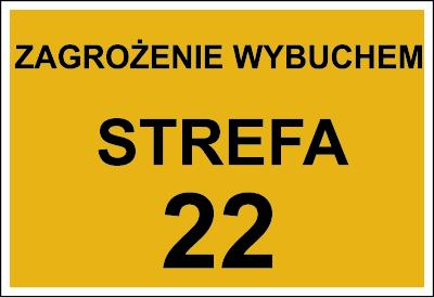 Znak Zagrożenie wybuchem strefa 22 (828-01)