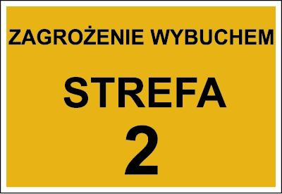 Znak Zagrożenie wybuchem strefa 2 (828-03)