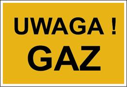 Obrazek dla kategorii Znak Uwaga! Gaz (828-09)