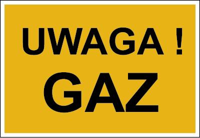 Znak Uwaga! Gaz (828-09)