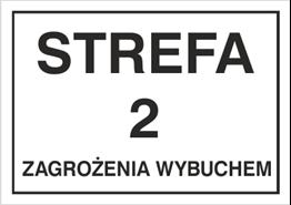 Obrazek dla kategorii Znak Strefa 2 zagrożenia wybuchem (828-08)