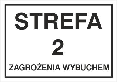 Znak Strefa 2 zagrożenia wybuchem (828-08)