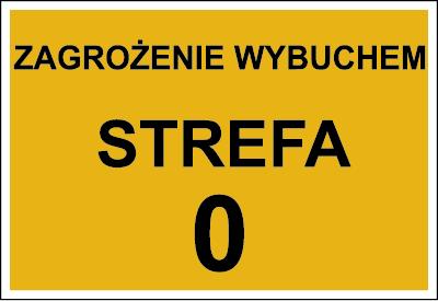 Znak Zagrożenie wybuchem strefa 0 (828-16)