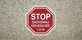 Obrazek dla kategorii Stop Zachowaj odległość 1,5 m (ANTY009)