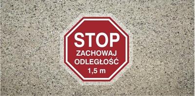 Stop Zachowaj odległość 1,5 m (ANTY009)