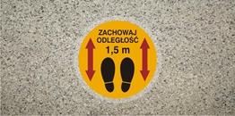 Obrazek dla kategorii Znak Zachowaj odległość 1,5 m - podłogowy (ANTY010)