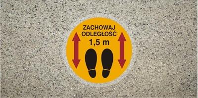 Znak Zachowaj odległość 1,5 m - podłogowy (ANTY010)