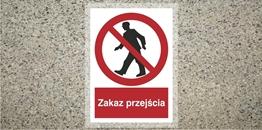 Obrazek dla kategorii Znak Zakaz przejścia (z opisem) (ANTY008)