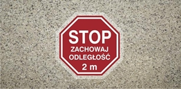 Obrazek dla kategorii STOP zachowaj odległość 2m (ANTY012)